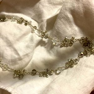 3/$15 K ~silver beaded necklace~ princess length